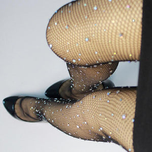 Diamante Mesh Socks