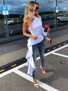 Off-The-Shoulder Asymmetric Blouses
