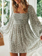 Square Neck Puff Sleeve Dress