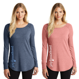 Ladies Perfect Tri Long Sleeve Tunic by District Made with Pampered Chef Logo