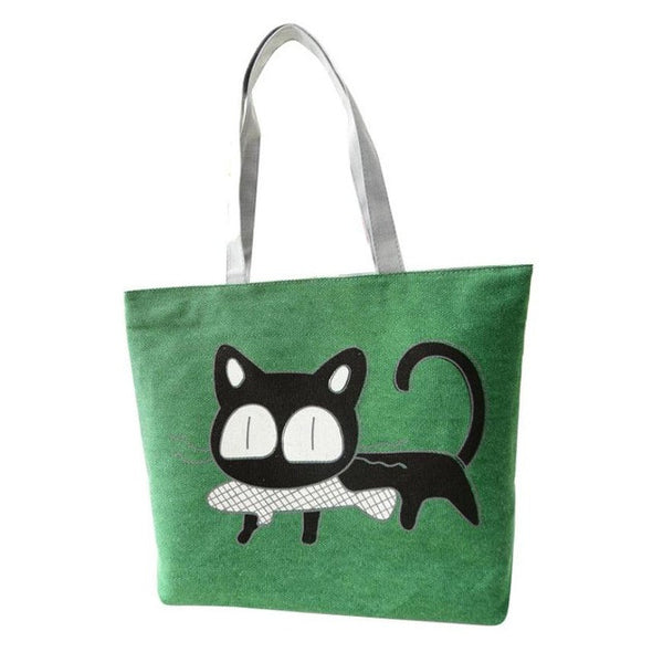 Fashion Cute Cartoon Cat Bag Canvas Bags For Women Shoulder Bag Casual Women's Handbags Messenger Bags Bolsas Feminina Hot Sale