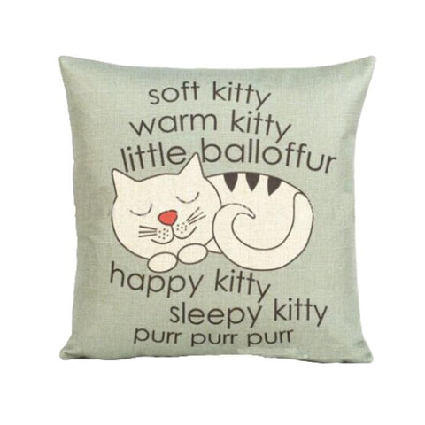 Cat Pillow Case Sofa Waist Throw Cushion Cover Home Decor
