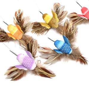 Interactive Funny Cat Toys Electric Rotating Bird with Steel Wire Cat Teaser Toy