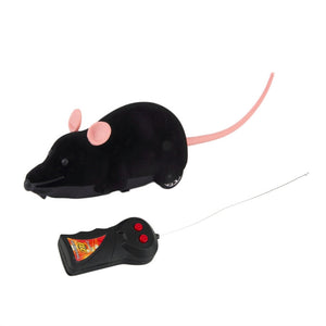Remote Control Simulation Plush Mouse Mice Kids Toys Gift for Cat Dog White Ear