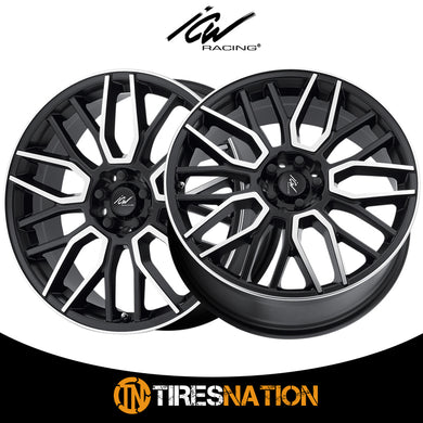 (2) ICW Racing 054218MB DRONE 17X7.5 5X105 / 5X110 73.00 Hub +42 Black Wheel Rim