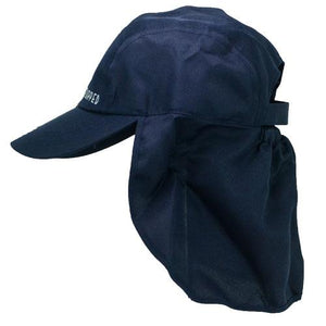 Blue Steel-navy coloured childrens legionnaires hat UPF50+ get flapped-side