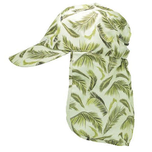 Ferny-fern patterned childrens legionnaires hat UPF50+ get flapped-side