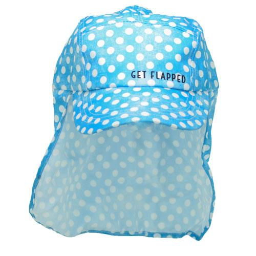 Polka-polka dot print adult legionnaires hat UPF50+ get flapped-front