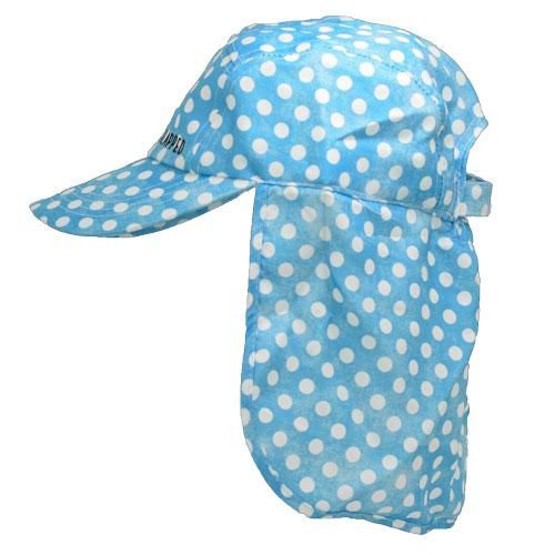 Polka-polka dot print childrens legionnaires hat UPF50+ get flapped-side