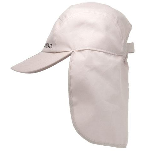 Sandy-beige coloured adult legionnaires hat UPF50+ get flapped-side