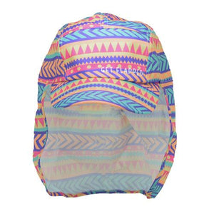 Tribal-tribal patterned childrens legionnaires hat UPF50+ get flapped-front