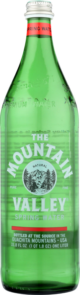 MOUNTAIN VALLEY: Spring Water In Glass Bottle, 1 Liter