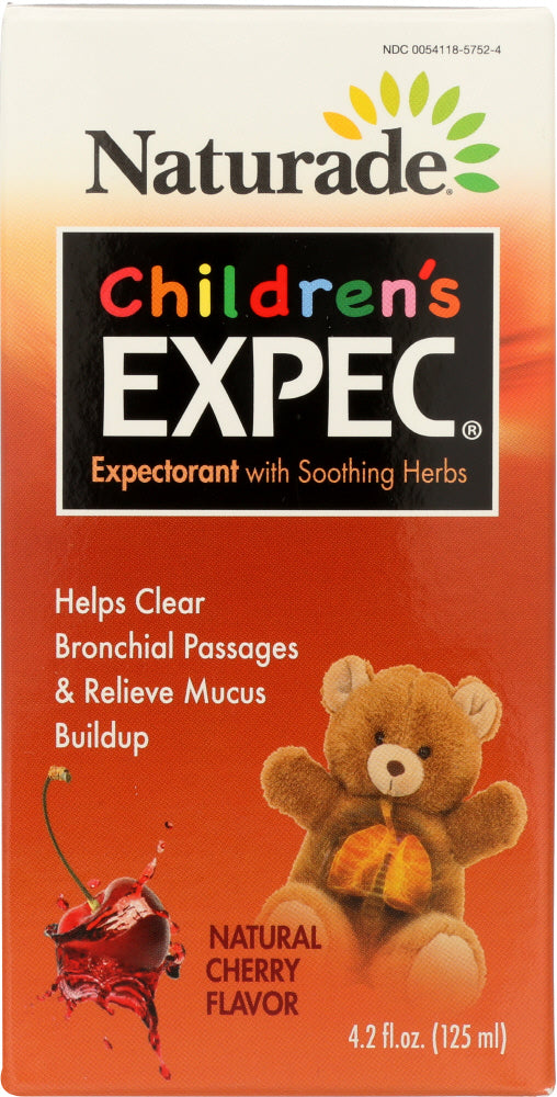 NATURADE: Childrens Expec Cough Syrup Cherry Flavor, 4.2 oz