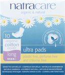 NATRACARE: Natural Pads Ultra Long with Wings, 10 pads