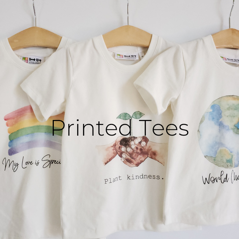 Printed Tees - Size Guide