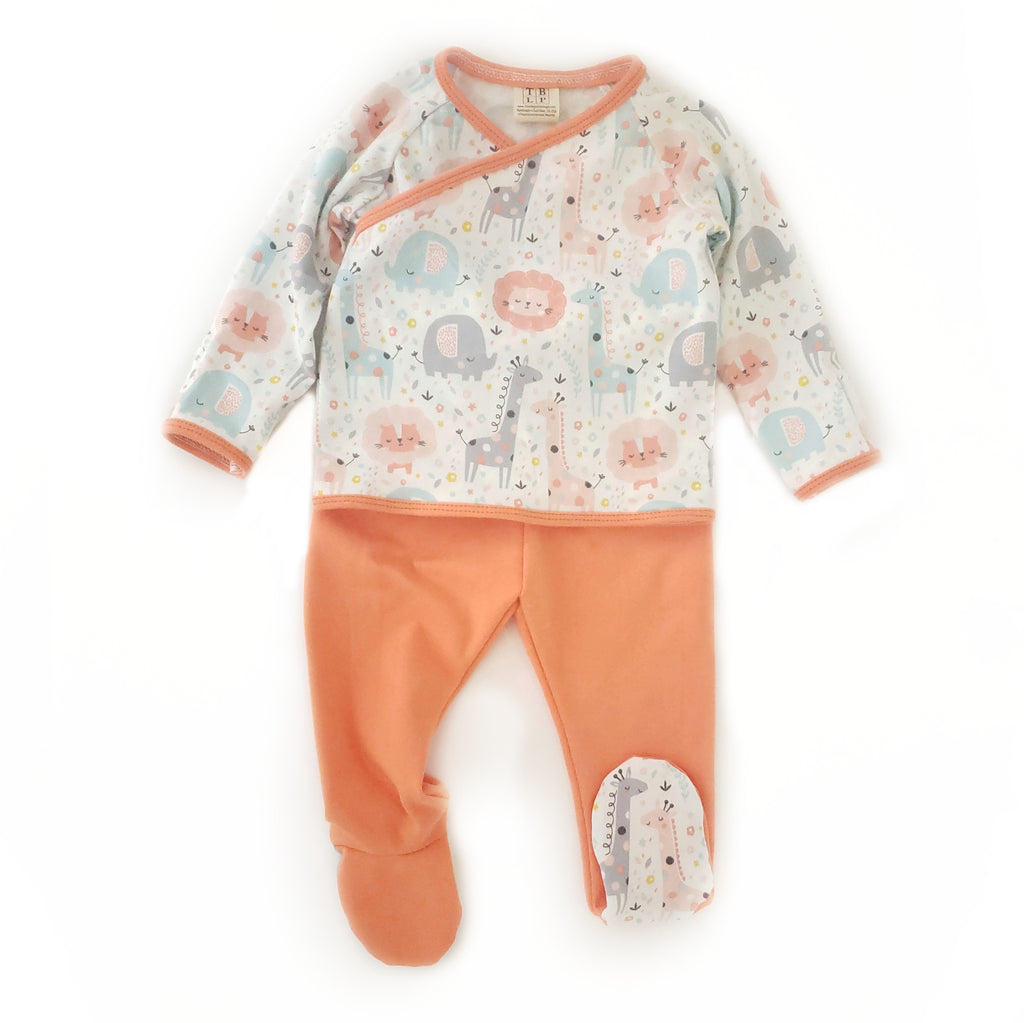 Shirt and Footies Set - Size 3-6 Months