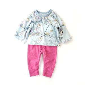 Pants & Shirt Set - Size 0-3 Months
