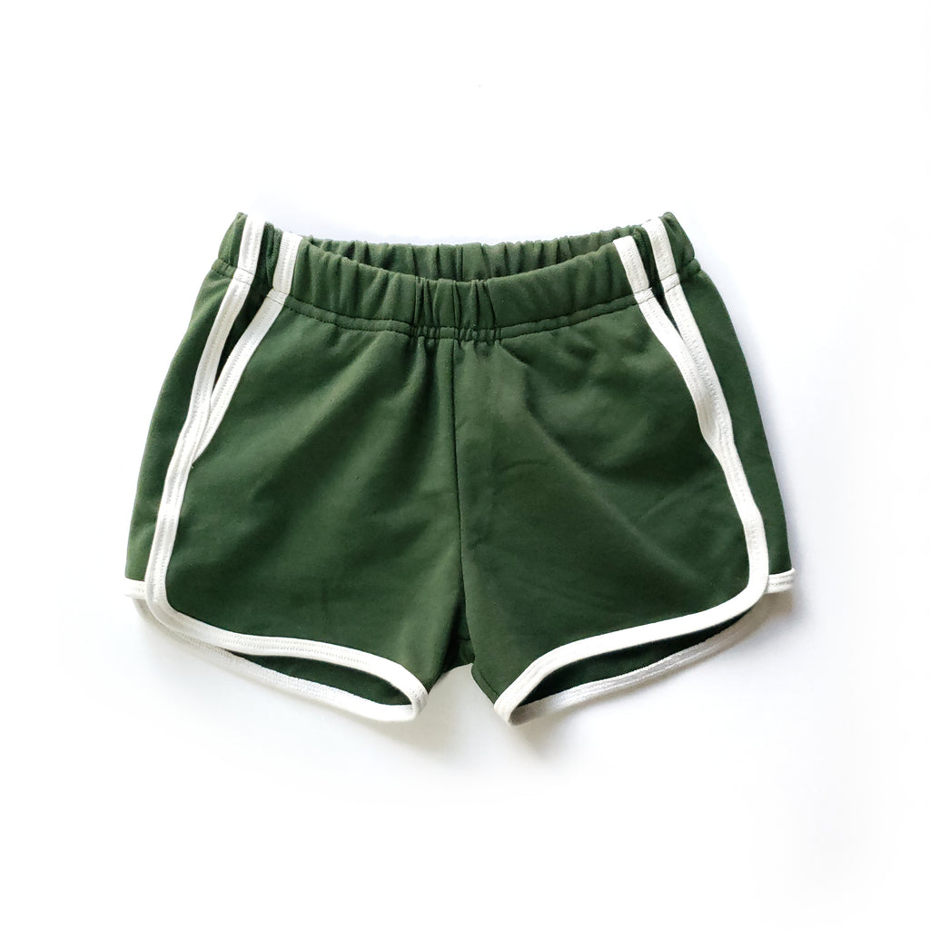 Track Shorts in Recycle - Front view