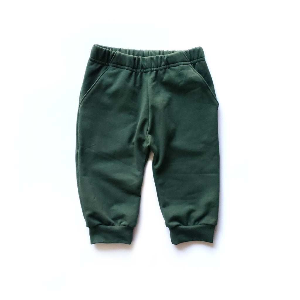 Cropped Joggers in Recycle - Front View