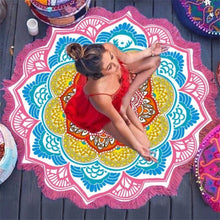 Load image into Gallery viewer, Circular Table Cloth Yoga