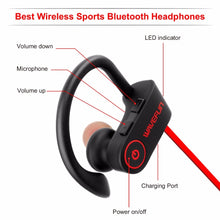 Load image into Gallery viewer, Waterproof Ear Hook Wireless Bluetooth Earphones