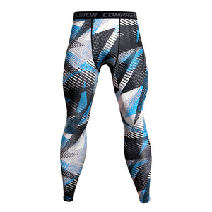 Men Camouflage Compression Pants