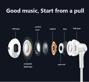 Stereo Bass Earphone with Microphone