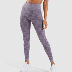 High Waisted Seamless Camo Leggings