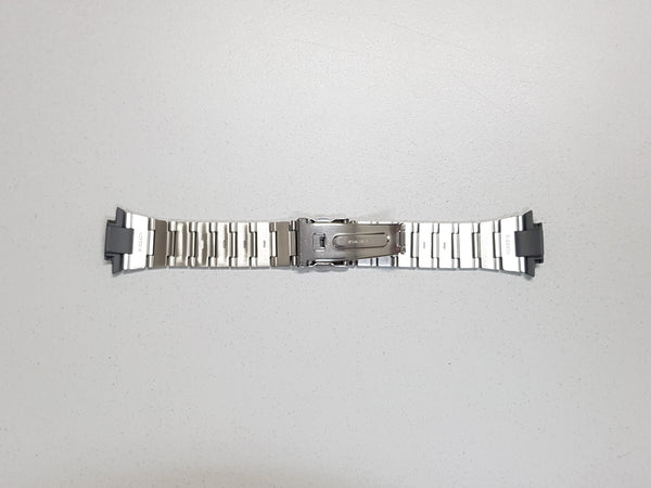 SILVER STAINLESS STEEL BAND WITH RESIN END PIECES (10090630) - STANDARD CASIO