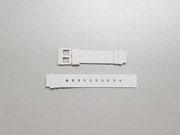 GLOSS WHITE RESIN BAND (10406536) - STANDARD CASIO