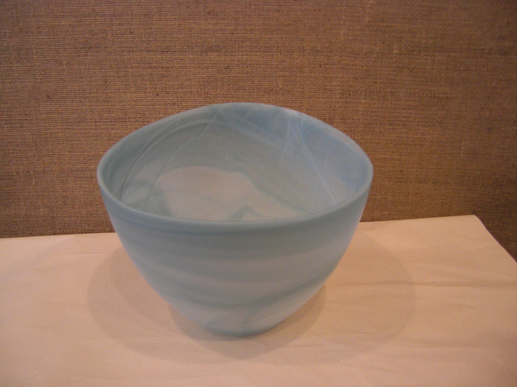 Alabaster Slant Bowl Medium - Turquoise