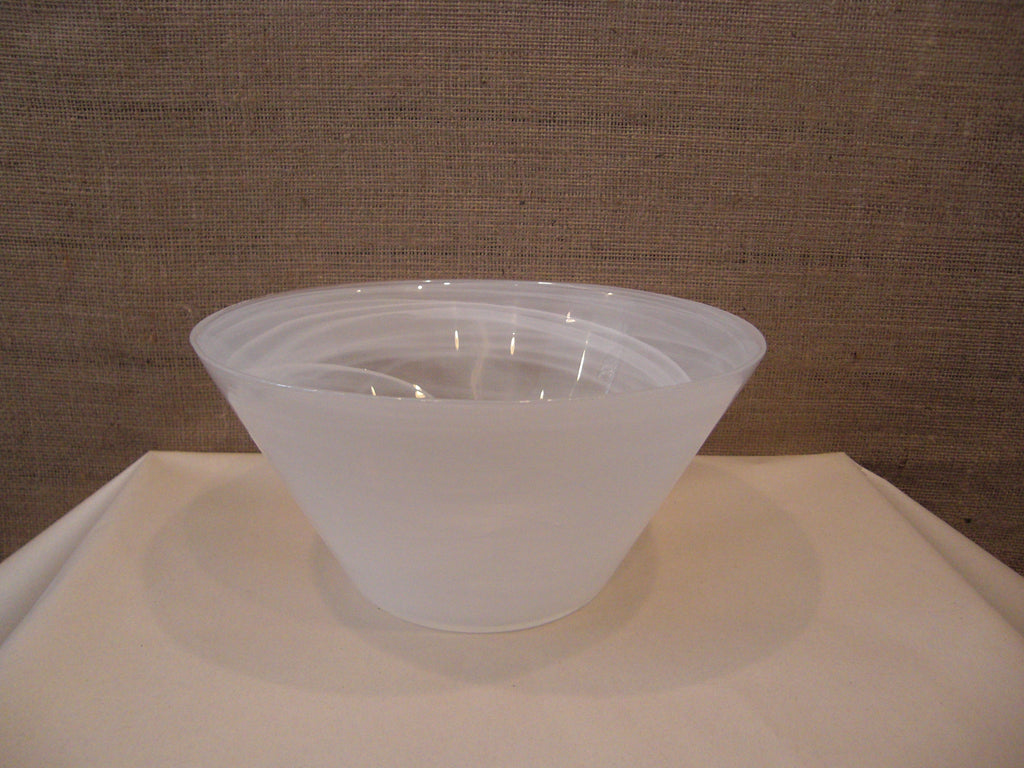 Opaque White Bowl  Large