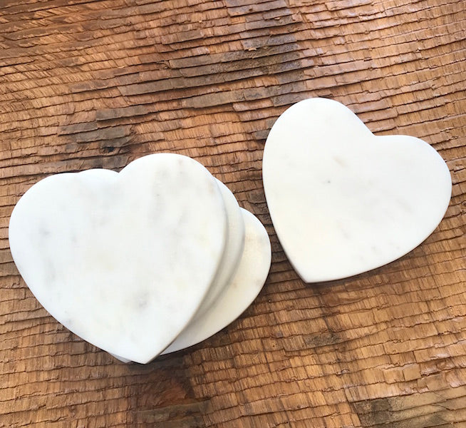 Marble Heart Coasters