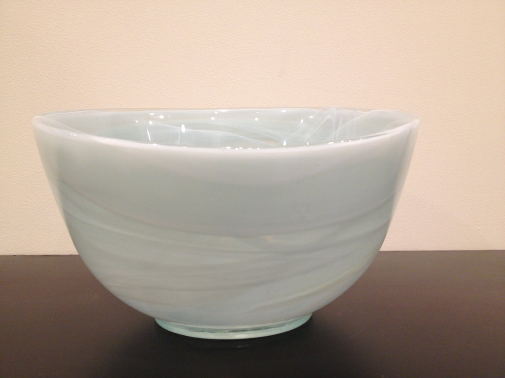 Recycled Glass Bowl -  Glacier Medium