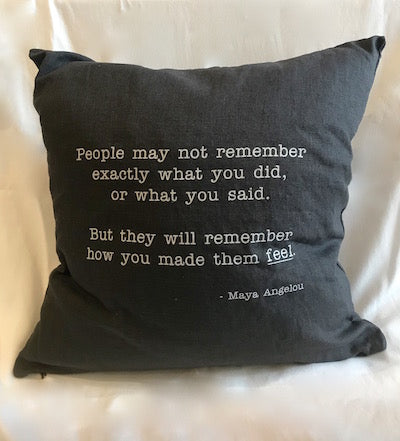 Maya Angelou Pillow