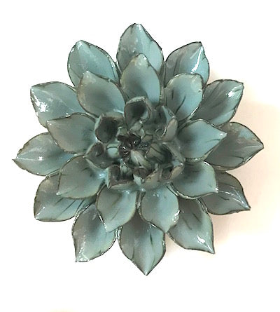 Medium Flower Blue Grey