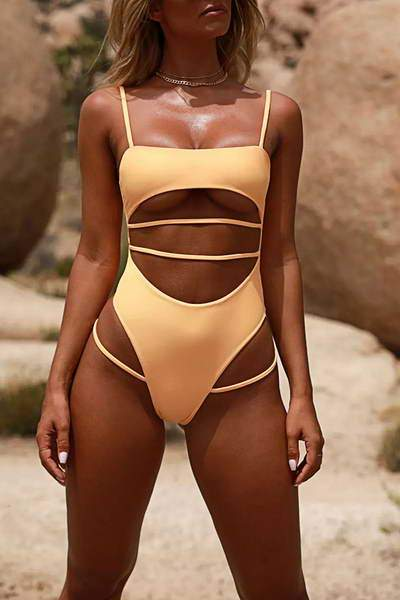 Cut Out Bathing Suit