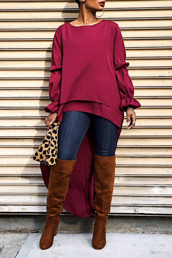 Red Wine Tunic Top