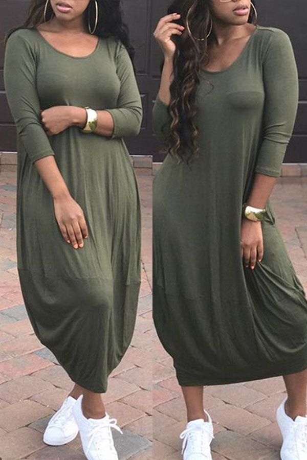 Loose Fit Midi Dress