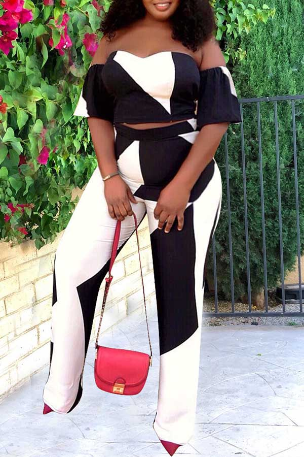 Black & White Pants Suit