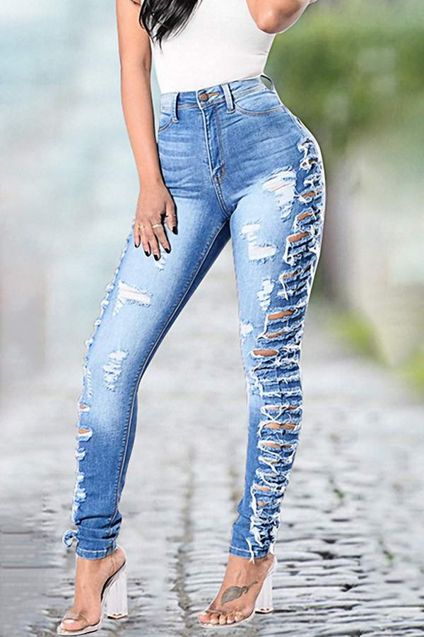 Slashed Side Jeans