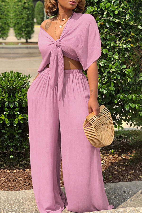 Crop Top & Wide Pants