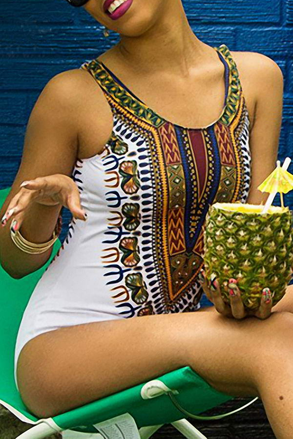 Plus Size Tribal Swimsuit