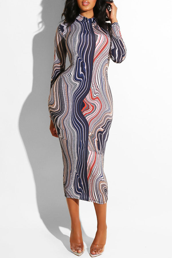 Bodycon Swirl Dress