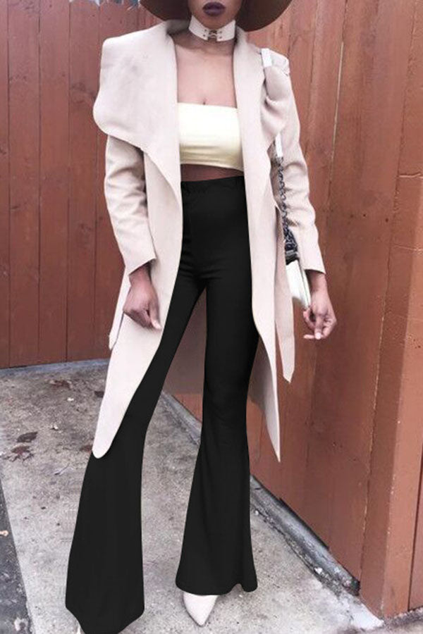 Solid Colour Bell Trousers