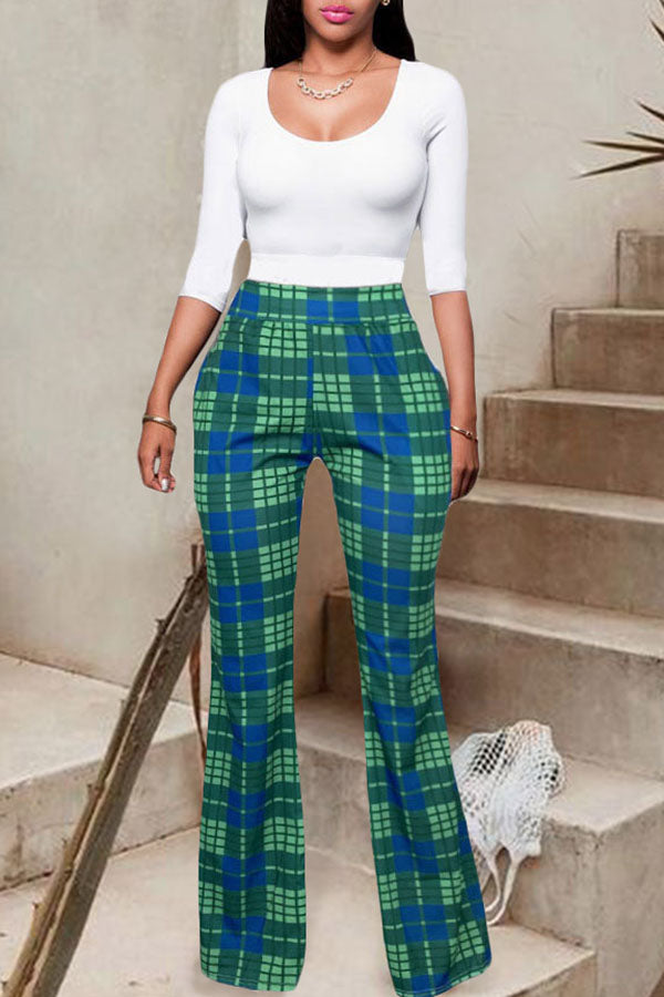 Chequered Bell Trousers