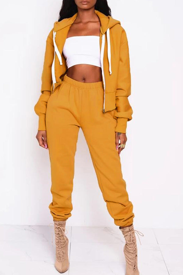 Solid Color Top Two Piece Set