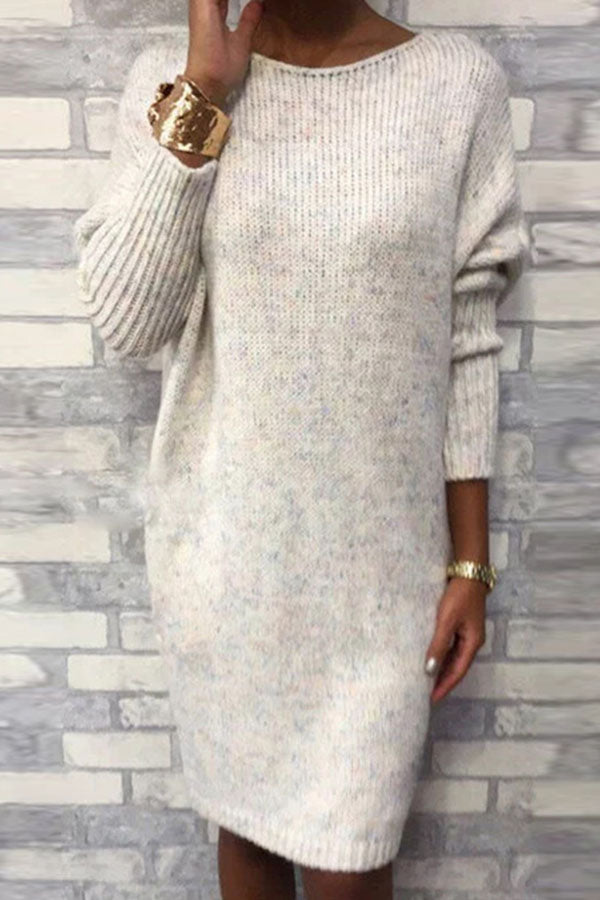 Round Neck Loose Knit Dress