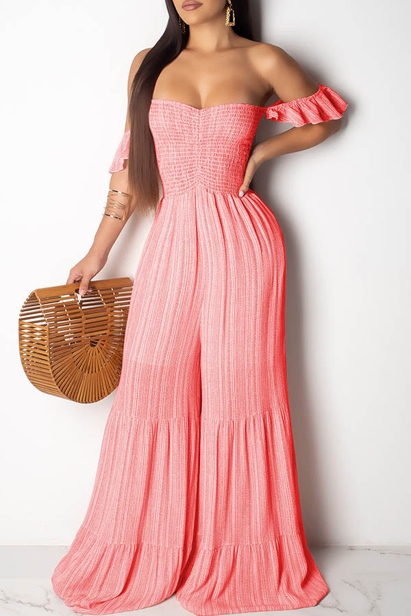 Pleated Pendulum Bandeau Jumpsuit