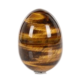 Undrilled Tiger's Eye Yoni Egg